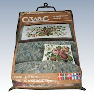 Complete Scandinavian Crewel Embroidery Kit For Pillow & Wall Hanging