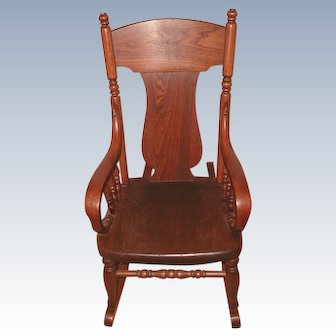 Very Early 1900's Child's Oak Rocking Chair