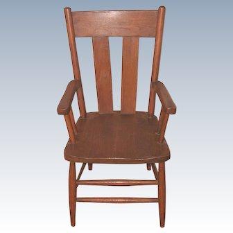 C.1900 Child's Oak Arm Chair