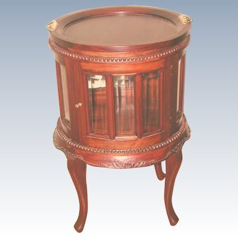 French Mahogany Chocolate Cabinet With Removable Tray