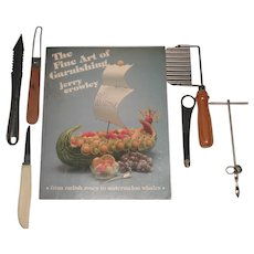 """""""The Fine Art Of Garnishing"""" Book With Five  Garnishing Tools Included"""