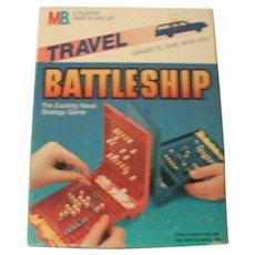 C.1986 Travel Battleship Game Milton Bradley