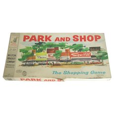Vintage 1960 Milton Bradley Park And Shop Game