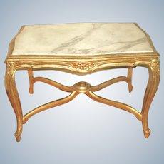 Italian Coffee Table 19th C Carved Carrara Marble Top