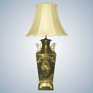 Brass Oriental Lamp 3 Way Early 1900's