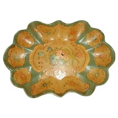 Papier Mache Tray Hand Painted Early 1900's