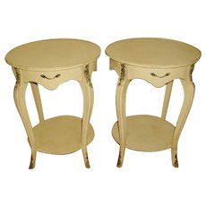 French Side Tables Pair Ormolu Mounts Early 1900's