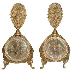 French Perfume Decanters 24 K Footed Early 1900's