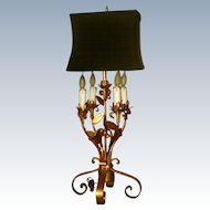 Florentine Gilt Lamp Early 1900's Shade Choice