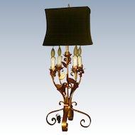 Florentine Gilt Lamp Early 1900's Shade Choice