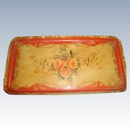 Papier Mache Tray Early 1900's Hand Painted