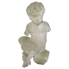 Greek Mythological Pan Statue Concrete 19th Century