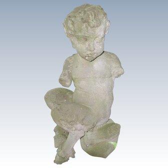 Greek Mythological Pan Statue Concrete 19th Century