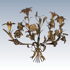 Bronze French Sconce Early 1900's Excellent Condition