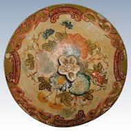 Lid Wall Hanging Papier Mache Italy 19th Century