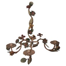 Italian Sconce Three Candle Floral Early 1900's