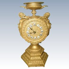 Cherub Gilt Clock Mayer 8 Day C.1890-1900
