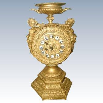 Cherub Gilt Clock Mayer 8 Day C.1890-1900