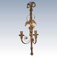 Palladio Carved Sconce 19th C Signed Wood Gilt Metal