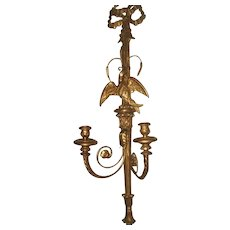 Palladio Carved Gilt Sconce 19th C Signed