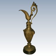French Bronze Ewer 19th C Large Mounted