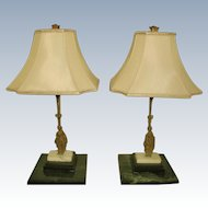 Bronze Girandole Lamps France Early 1900's