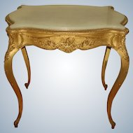 Gilt Alabaster Table C.1850 French Regency Hand Carved