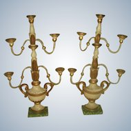 Wall Or Table Top Sconces Italian Early 1900's Carved Wood