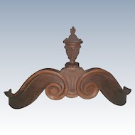 Bed Canopy Coronet English Pulpit Early 1900's Carved