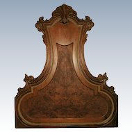 Original Hoke Headboard Italy Walnut Burl