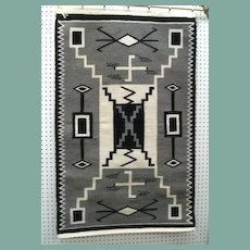"""Excellent Native American Navajo Rug Storm Pattern Fine Weave 32"""" x 52"""""""