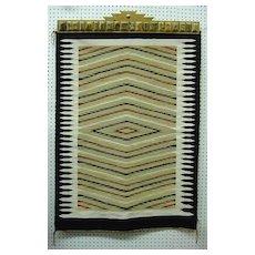 "Vintage 1950's Native American Navajo Rug Dazzler Diamond Pattern 37"" x 51"""