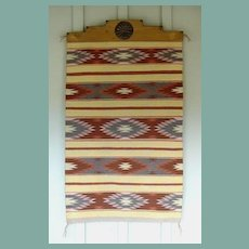 """Finely Woven Vintage 1950's Native American Navajo Rug 30"""" x 49"""" Crystal Reservation"""