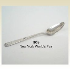 Vintage 1939 NEW YORK World's Fair Spoon – Silver Plated National Silver Co.