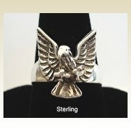 Vintage Sterling Silver Eagle Ring