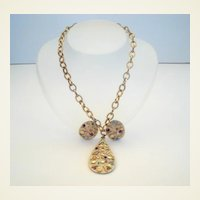 Vintage Sarah Coventry 'Sultana' Set Gold Confetti & Rhinestones