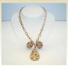 Vintage Sarah Coventry 'Sultana' Set Gold Confetti & Rhinestones