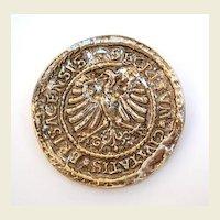 Vintage Accessocraft New York City Greek Coin Brooch Pendant