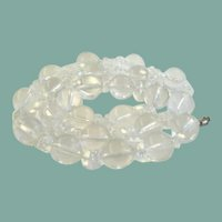 Vintage Icy Cool Clear Lucite Jelly Longer Necklace