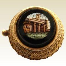 Rare Italian Antique 14KT Gold Vatican Micro Mosaic Studio Nativity Scene MINIATURE Pin Brooch Museum Quality Circa 1840-1860