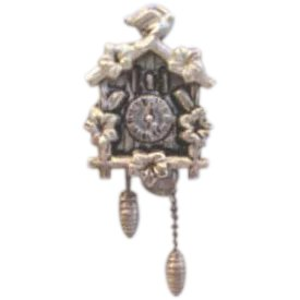 top Cuckoo Clock with moving parts NEW on Silver Plated Souvenir ...