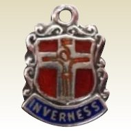 Vintage Religious Souvenir Charm Inverness Scotland Sterling Silver Marked