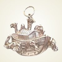 Vintage Noah's Ark Religious Charm Sterling Silver Marked