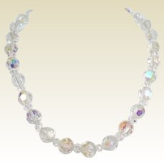 Vintage Genuine Austrian Crystal Choker Necklace Rhinestone Studded Clasp