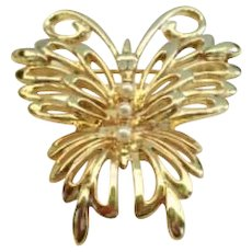 Vintage Signed Danecraft Retro Modern Butterfly Pin Brooch