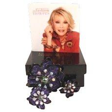 Joan Rivers Statement Fantasy Flower Set NIB with Brochure