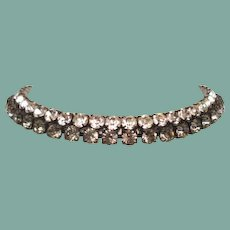 After Midnight Black Diamond & Clear Rhinestone Double Collar Necklace
