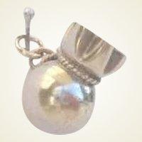 Vintage Gold Miner Gold Money Bag Sterling Charm