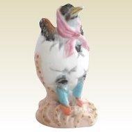 Vintage Porcelain Duck Dressed to the Nines Gilt Figurine Anchor Mark