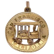 Vintage M&M San Francisco Cable Car Charm Sterling Signed